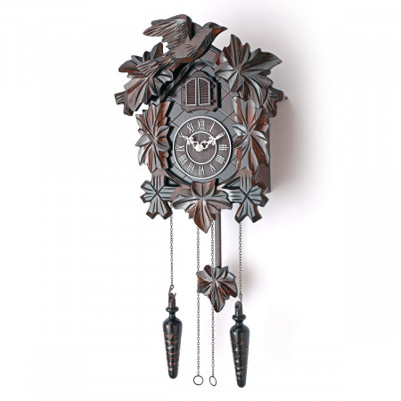 TIMEGEAR Cuckoo Clock with Night Mode and Quartz Movement (Brown)