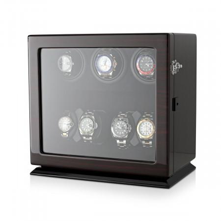 Leader Watch Winders Compact 7 Watch Winder (Ebony + Black)