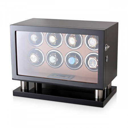 Watch Winder for 8 Watches (Black + Brown)