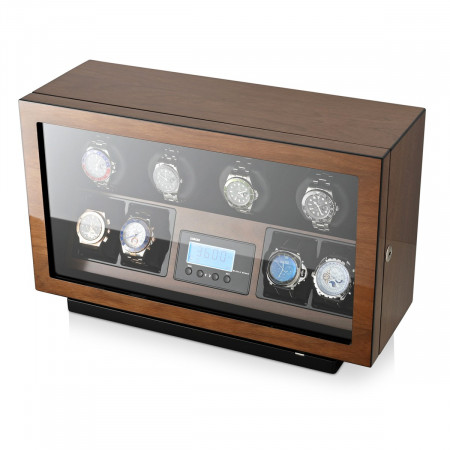 4 Watch Winder with Ultra-Quiet BLDC Motors (Walnut)