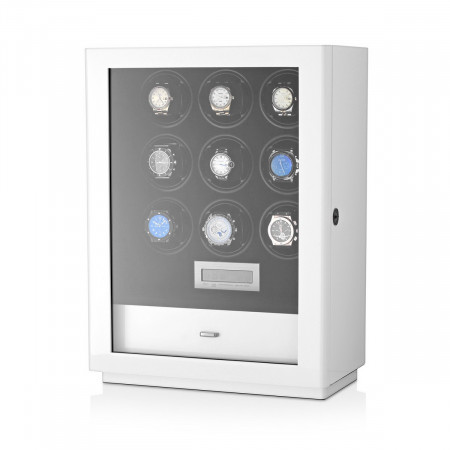 Boda D9 watch winder for 9 watches (White)