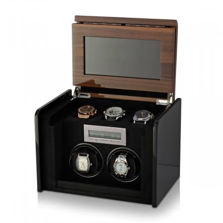 Boda F2+3 double watch winder box (Walnut)
