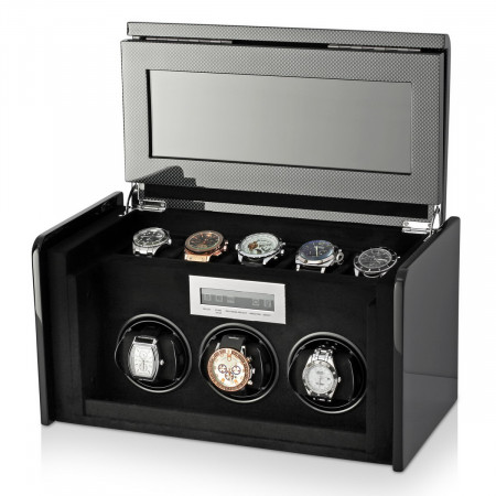 Boda F3+5 triple watch winder box (Carbon)