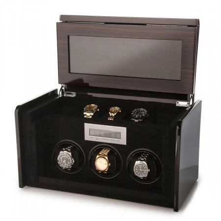Boda F3+5 triple watch winder box (Macassar)