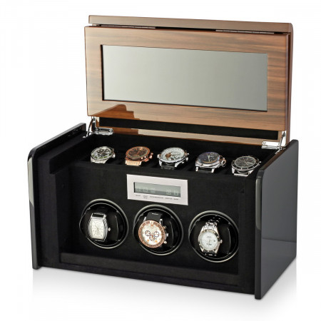 Boda F3+5 triple watch winder box (Walnut)