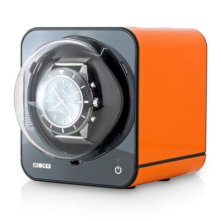 Fancy Brick Watch Winder (Orange)