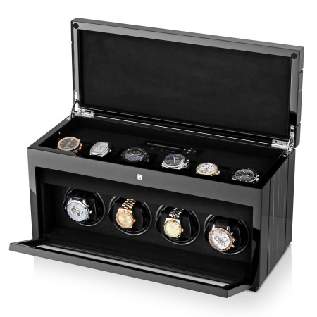 4+6 Gentleman Quad Premium watch winder (Black Shadow)