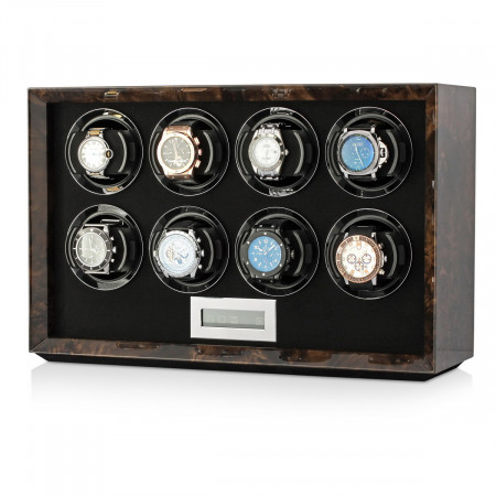 Petite 8 watch winder (Dark Burl)