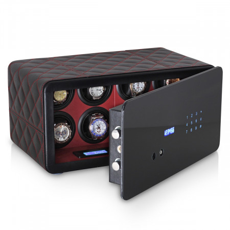 Watch Winder Security Safe for 8 Watches with Digital Code Lock