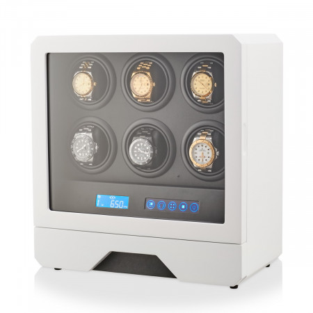 Watch Winder for 6 Watches (White)