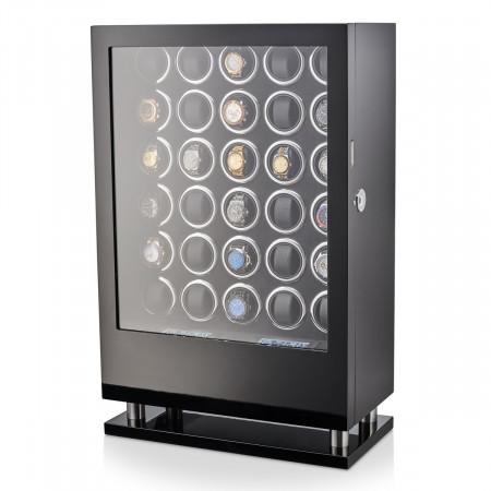 30 Watch Winder with Fingerprint Lock and Storage Drawer (Black)