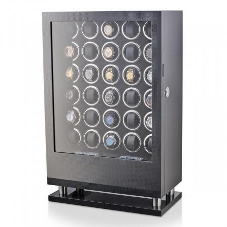 30 Watch Winder with Fingerprint Lock and Storage Drawer (Carbon)
