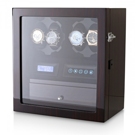Leader Watch Winders for 4 Watches (Ebony)