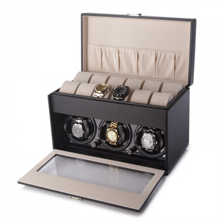 Triple Watch winder with storage
