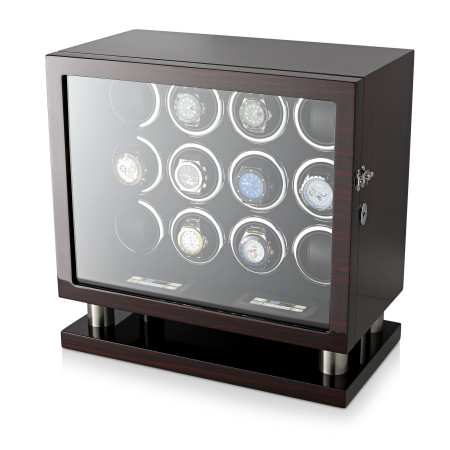 Leader Watch Winder for 12 Watches (Ebony)