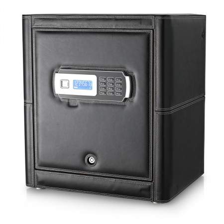 Watch Winder Safe with Built-In Alarm System (Black)