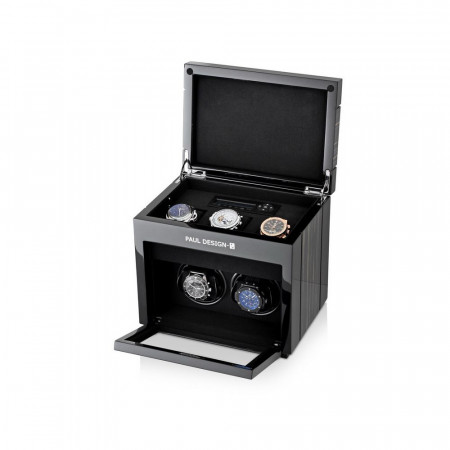 Gentleman 2+3.1 Double Premium watch winder (Black Shadow)