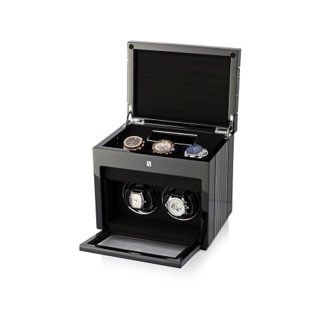 Gentleman Double Premium watch winder (Black Shadow)
