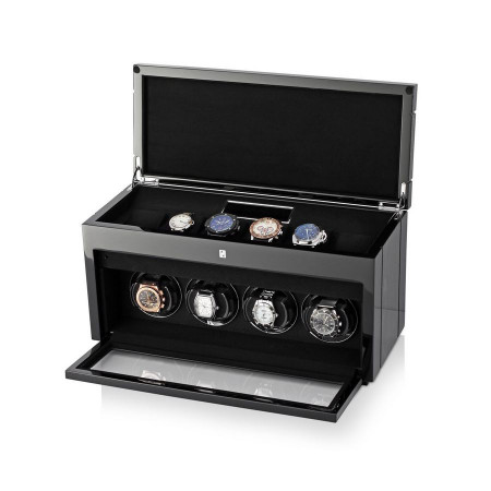 Gentleman Quad Premium watch winder (Black Apricot)