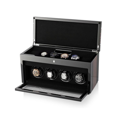 Gentleman Quad Premium watch winder (Macassar)