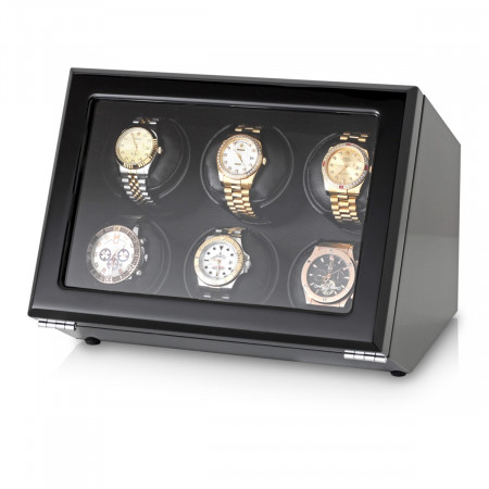 Watch Winder with Battery Power Option (Black)