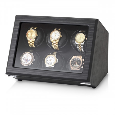 Watch Winder with Battery Power Option (Black Veneer)