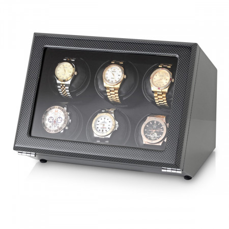Watch Winder with Battery Power Option (Carbon)