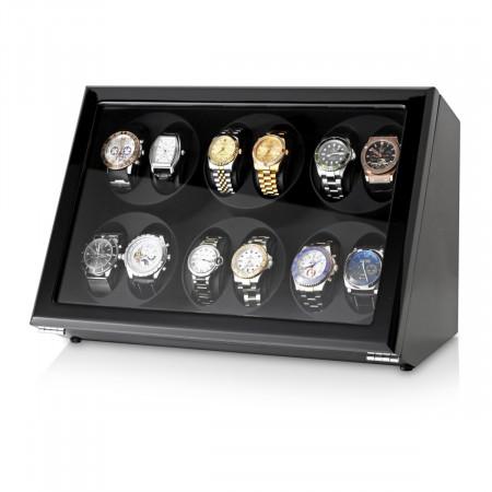 Leader Watch Winder for 12 Watches (Black)
