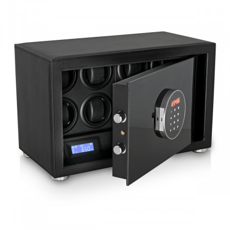Watch Winder Safe LT-8 with Digital Lock and Interior Backlight (Black)