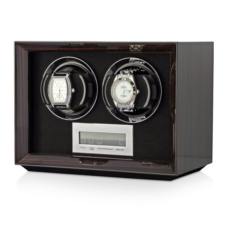 Petite 2 Double watch winder (Macassar)