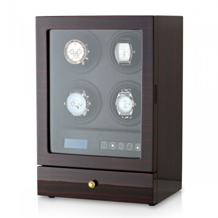 Leader Watch Winders Quad Watch Winder (Ebony + Black)