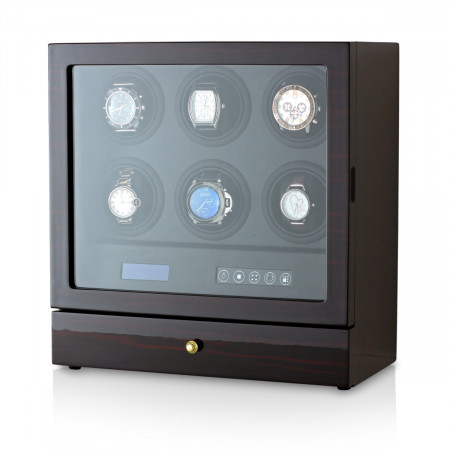 Leader Watch Winder for 6 Watches (Ebony)