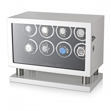 Leader Watch Winder for 8 Watches (White)