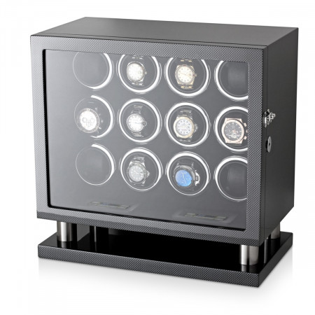 Watch Winder for 12 Watches (Carbon)