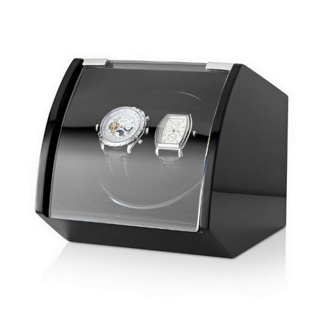 Double Watch Winder with USB Power Option (Black)