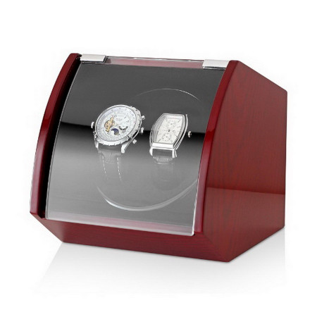 Double Watch Winder with USB Power Option (Brown)