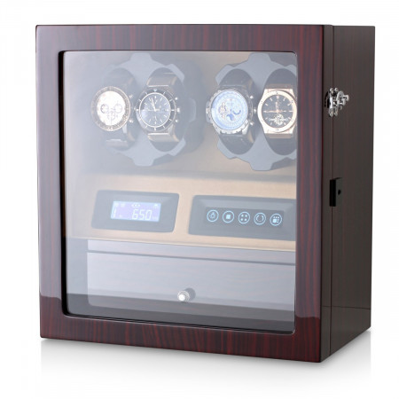 Watch Winder for 4 Watches (Ebony + Brown)