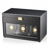 3+12 Watch Winder (Black PU + Beige)