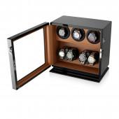 Leader Compact 7 Watch Winder (Black + Brown)
