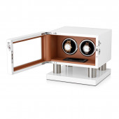 Leader Watch Winders Wooden Watch Winder for 2 Automatic Watches (White + Brown)