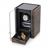 Boda C1 single watch winder (Dark Burl)
