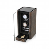 Boda C2 double watch winder (Dark Burl)
