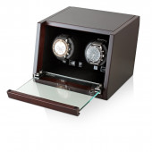 Double Wooden Watchwinder (Brown Walnut)
