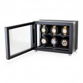 Automatic Watch Winder in Hi-Tech Style for 6 Men's and Women's Watches (Black)