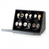 Leader Watch Winder for 12 Watches (Carbon)