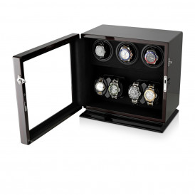 Leader Watch Winders Compact 7 Watch Winder (Ebony + Black)