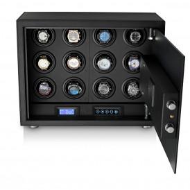 Leader Watch Winders Safe LT-12 with Digital Lock and Interior Backlight (Black)