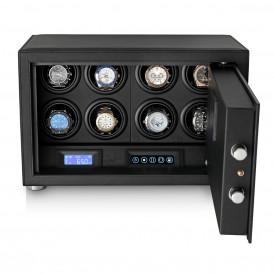 Watch Winder Safe LT-8 with Digital Lock and Interior Backlight (Black)