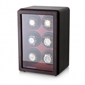 Leader Watch Winder with Faux Leather Finish (Black)