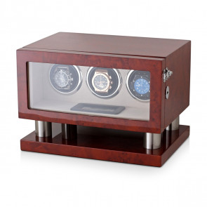 Leader Watch Winders Triple Watch Winder for Automatic Watches (Dark Burl)